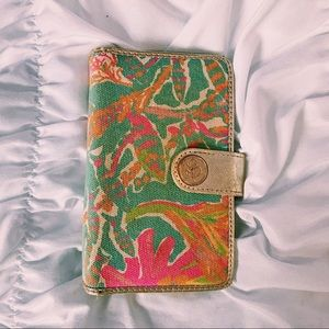 LILLY PULITZER GOLD WALLET